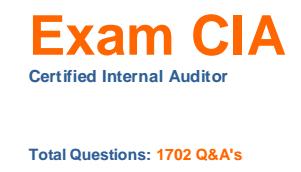 1702 سؤال وجواب لإمتحان CIA المدقق الداخلي المعتمد
