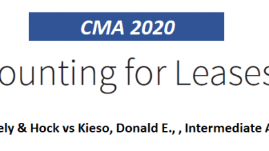 Accounting for Lease (LOS 2020)