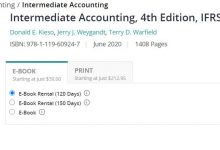 كتاب كيسو اخر اصدار intermediate accounting ifrs 4th edition