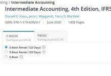 كتاب كيسو اخر اصدار intermediate accounting ifrs 4th edition