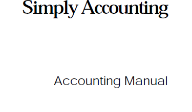 كتاب Simply Accounting