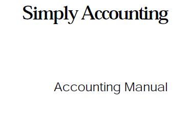 كتاب Simply Accounting
